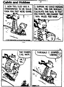 calvin and hobbes math