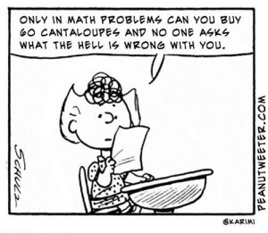 Peanuts Math Sally