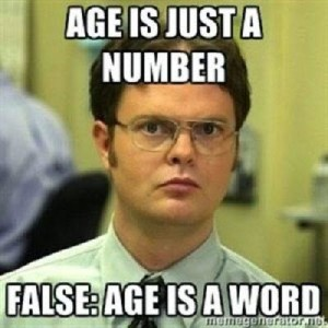 Age is not a number its a word