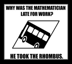 The Mathematician took the rhombus